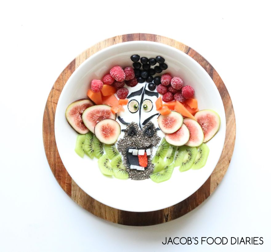 Marty From Madagascar. Smoothie Bowl
