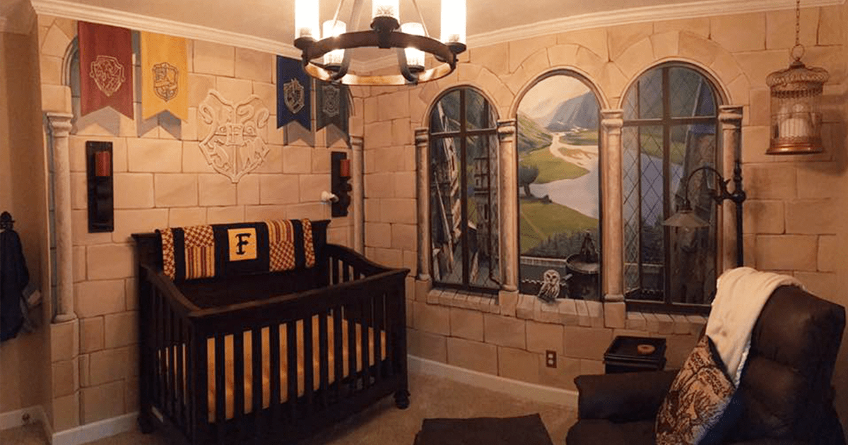 Dad Creates Harry Potter Nursery For His Little Wizard Bored Panda