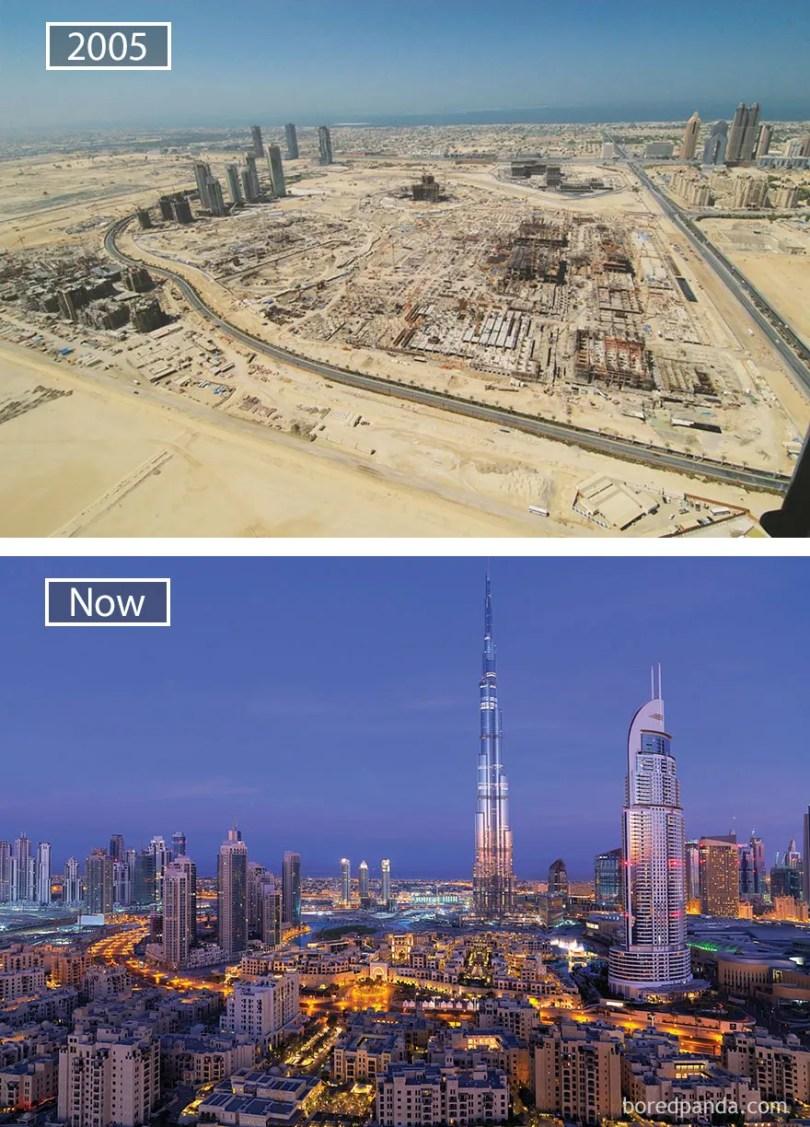 Dubai, Emirados Árabes Unidos - 2005 e agora