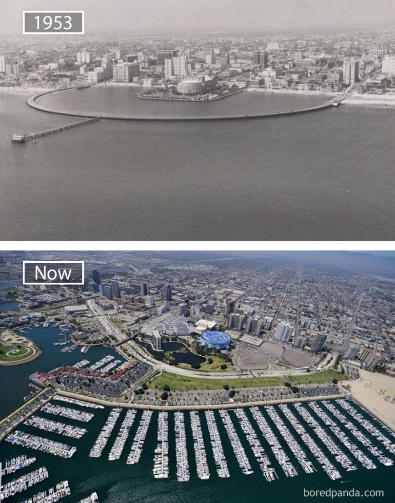 Long Beach, Usa - 1953 And Now