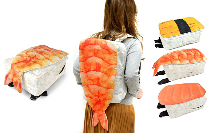 These Backpacks From Japan Look Like Giant Sushi