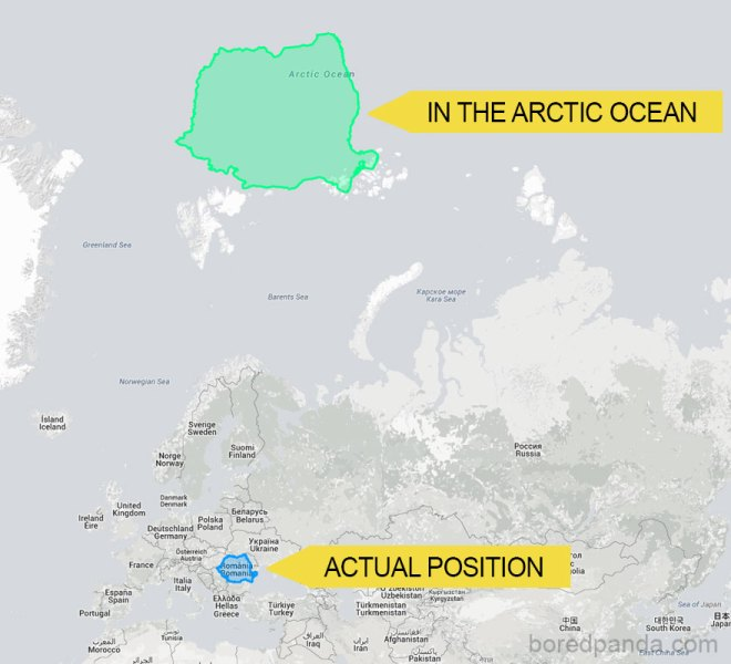 If Romania Was An Island In The Arctic Ocean