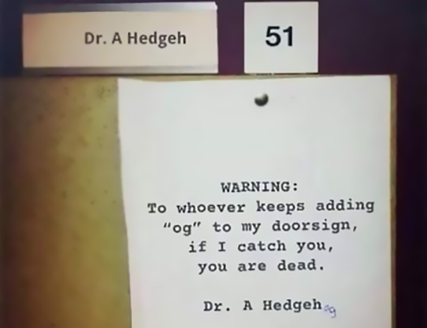 Catch Me If You Can, Dr. Hedgehog