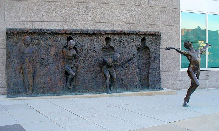 Break Through From Your Mold By Zenos Frudakis, Philadelphia, Pennsylvania, Usa