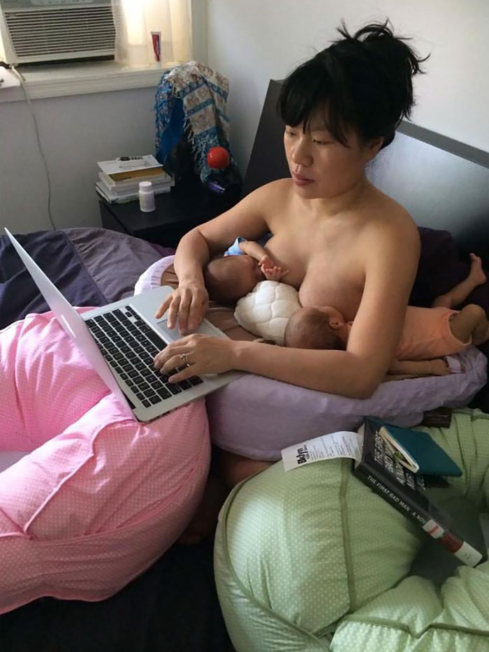 mom-breastfeeding-twins-laptop-motherhood-career-hein-koh-2