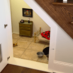 This Woman Built Her Dog A Bedroom Under The Stairs And The Details Are Impressive Bored Panda
