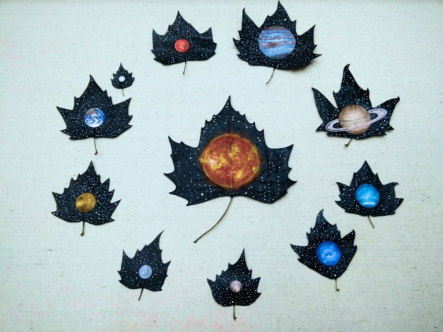 """24 Fallen Leaves"" - An Out-of-this-world Art Project Created With The Love Of Two Georgian Artists"