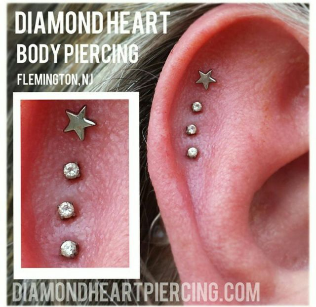 Shooting Star Piercings