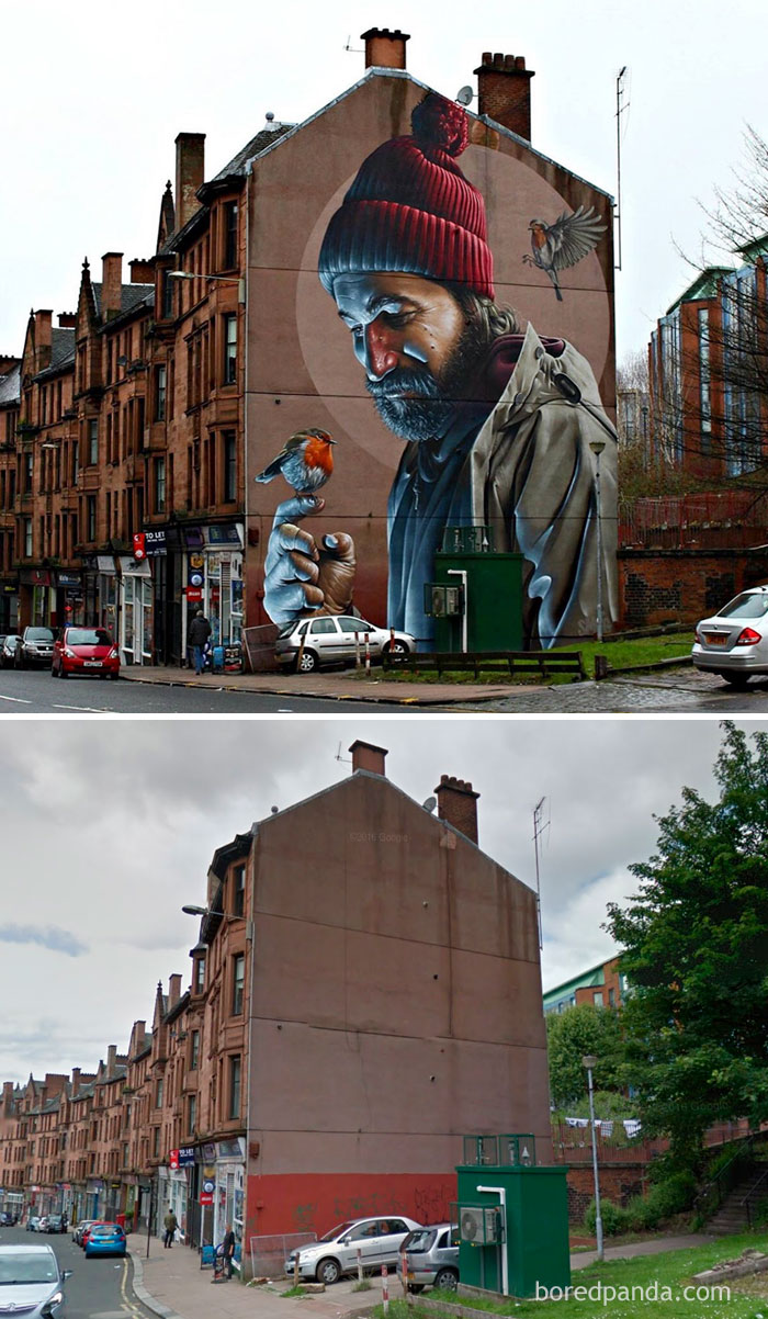 Photorealistic Mural, Glasgow, Scotland