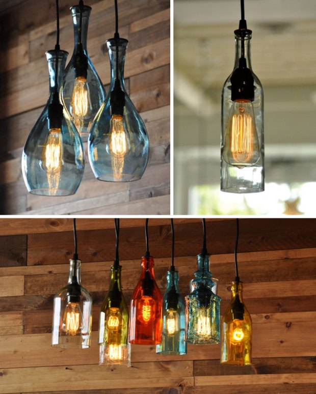 You Can Turn Wine Bottles Into Chandeliers