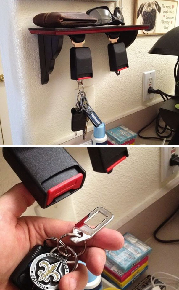 Seatbelt key holder