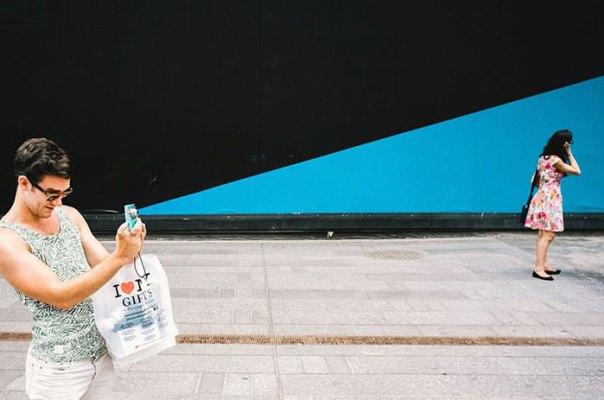 Fotografía de la calle perfectamente sincronizado