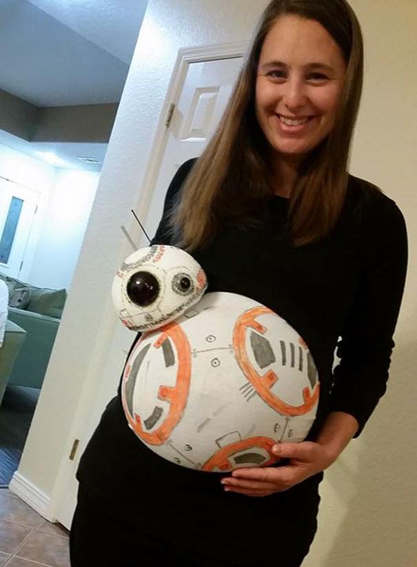 BB-8 (Baby-8) Pregnant Costume