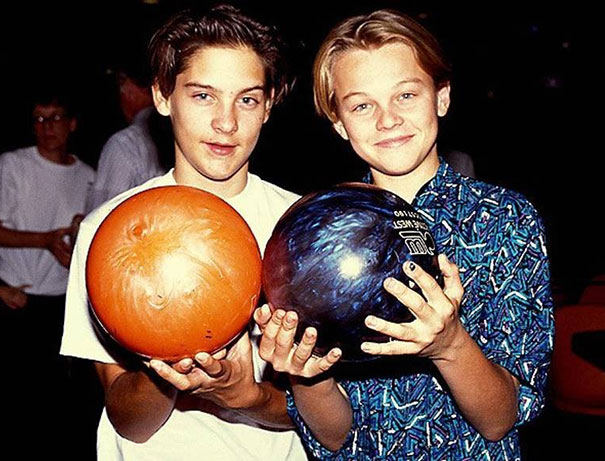 Tobey Maguire And Leonardo DiCaprio met at an audition at a young age. best buddies ever since