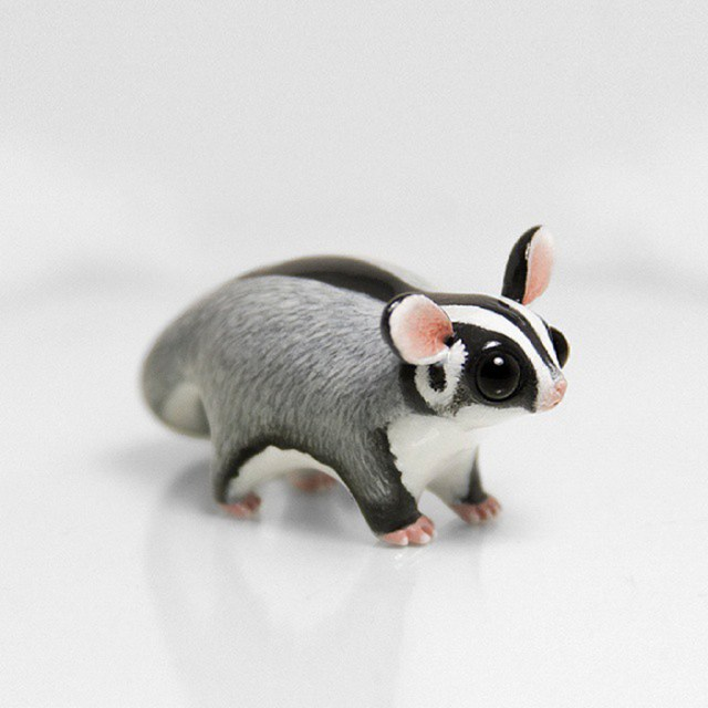 I create unique animal sculptures from polymer clay