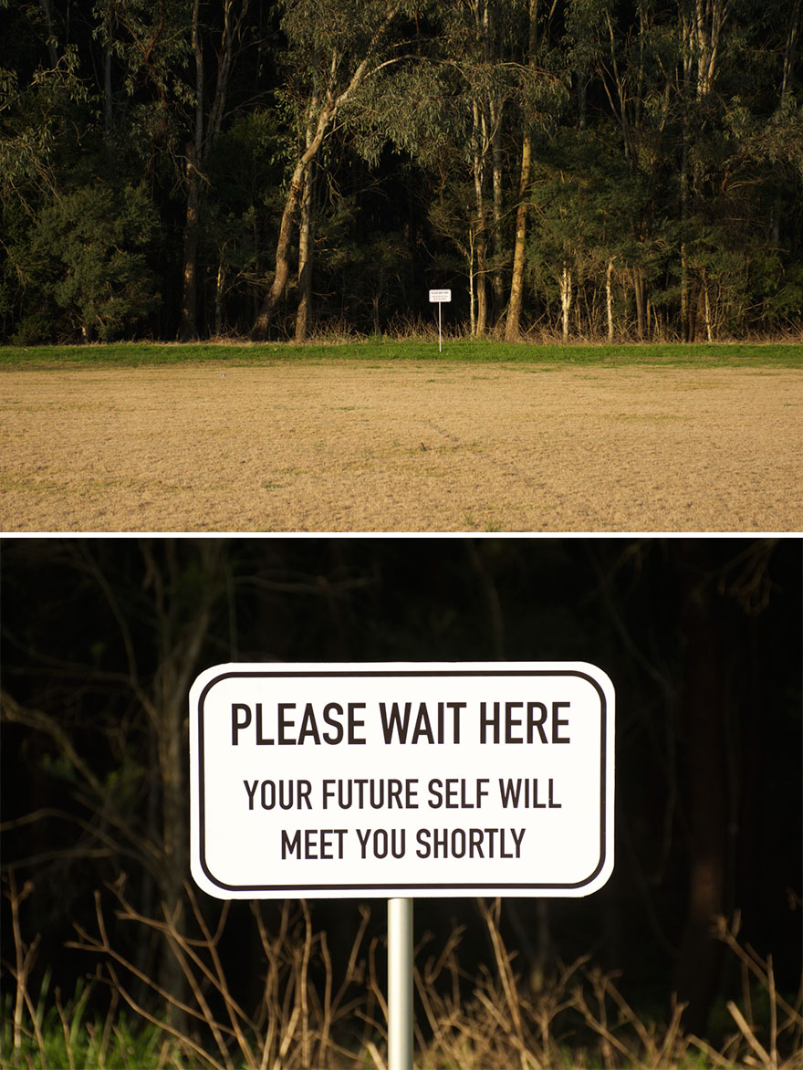 Please Wait Here sign