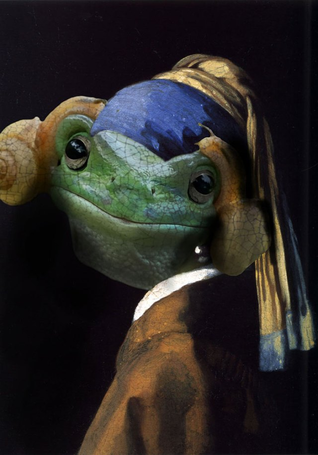 frog with a pearl earring