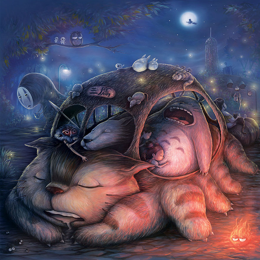 Ghibli Sleepover By Keh Choon Wee