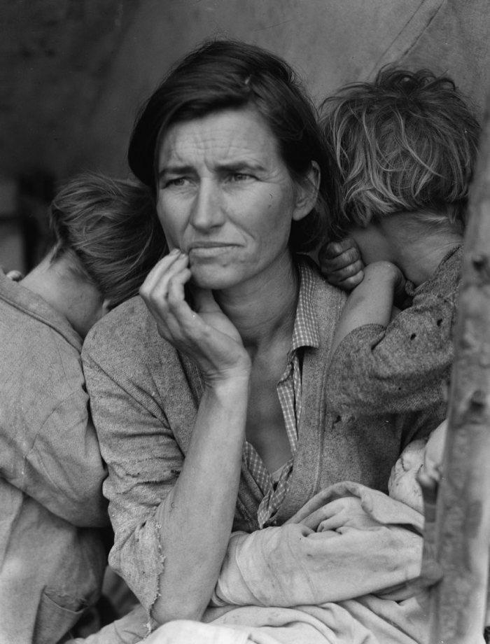 Madre migratoria, Dorothea Lange, 1936