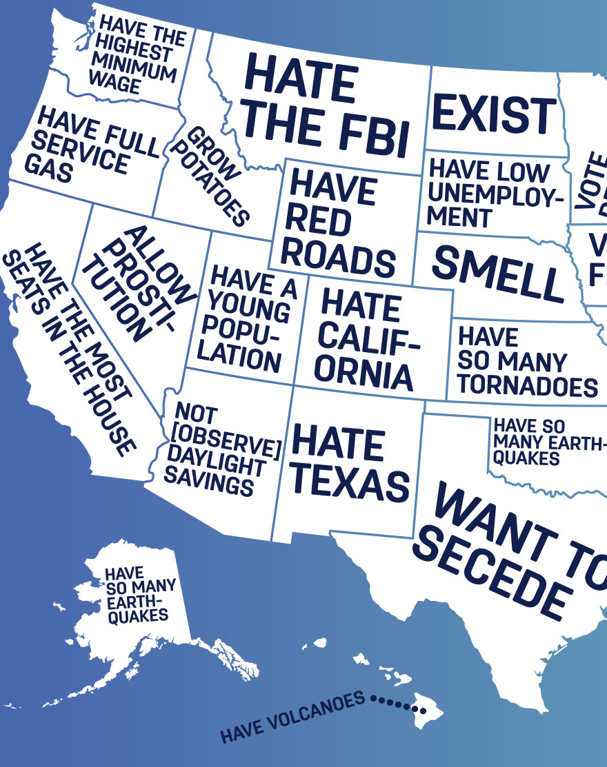 Some of the best features of google's mapping app are among the hardest to find—until you know where to look. Google Autocomplete Reveals What People Think Of Different Us States Bored Panda