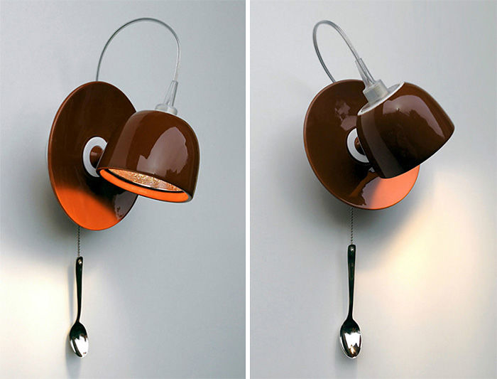 Coffee Cup Wall-Mounted Lamp