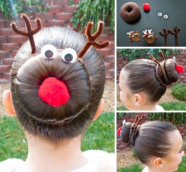 Rudoph The Red Nose Reindeer Bun