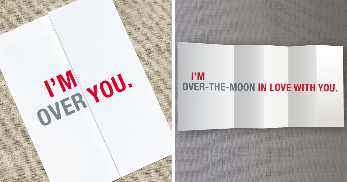 15 Seemingly Offensive Fold Out Greeting Cards With