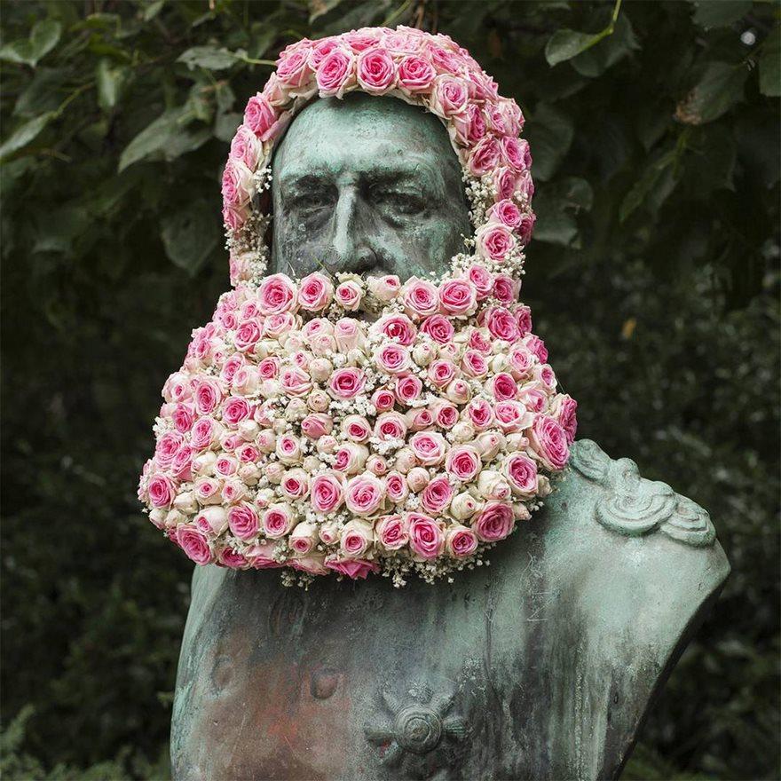Çiçek kronları-sakal-anıtlar-geoffroy-mottart-brüksel-13