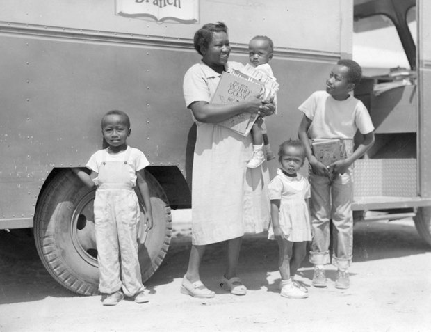 Mrs. Josie Sanders, Richard Sanders, Jerome Sanders And Two Younger Children. C1950s