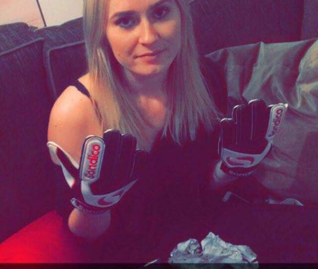 So My Sister Got Goalie Gloves For Christmas From Her Boyfriend For Being A Keeper
