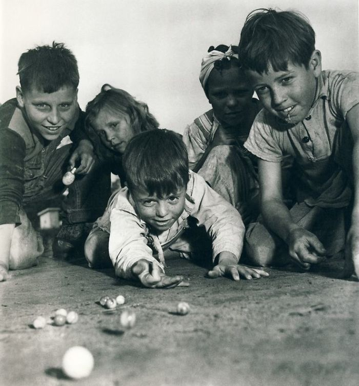 Children Playing Marbles, Missouri, 1940s