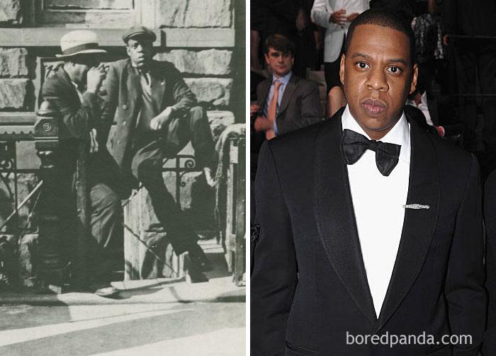 Este homem em Harlem em 1939 e Jay Z