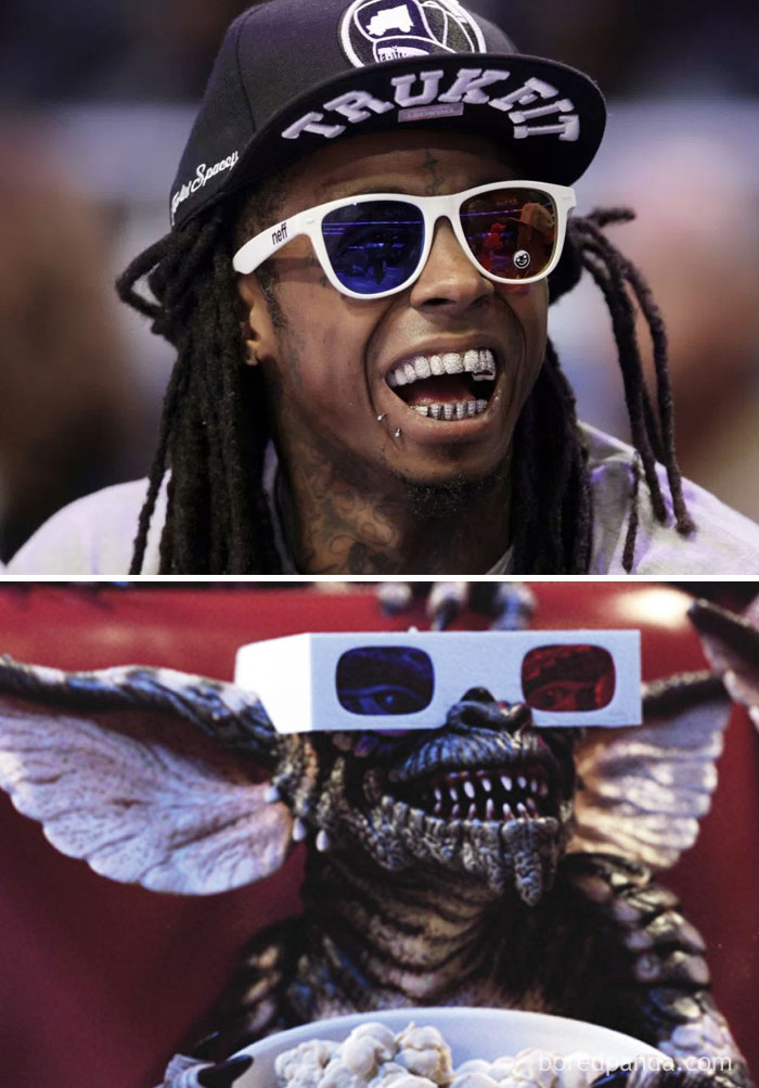 Lil Wayne Or Gremlin With 3D Glasses?