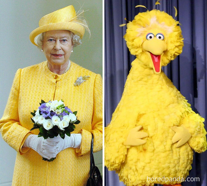 Queen Elizabeth II Or Big Bird From Sesame Street?
