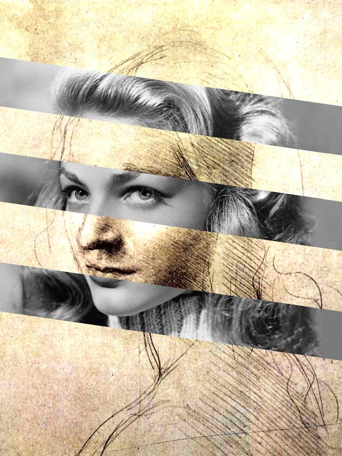 "Leonardo Da Vinci's ""head Of A Woman"" And Lauren Bacall"