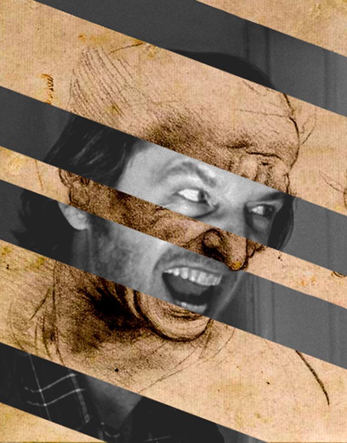 """Leonardo Da Vinci's """"head For The Battle Of Anghiari"""" And Jack Nicholson In Shining"""