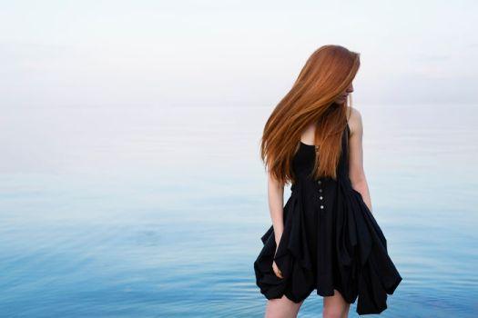 Model Nastya Pindeeva Overlooking The Black Sea In Ukraine