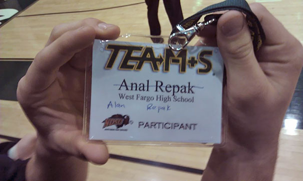 So They Messed Up My Friend's Name Tag