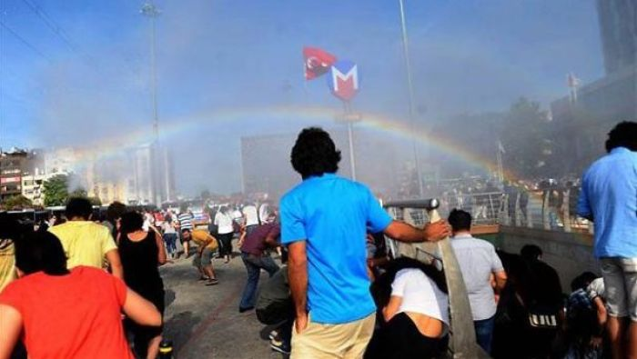 Police In Turkey Try To Stop Pride Parade With Water Cannons, Accidentally Creates Rainbows