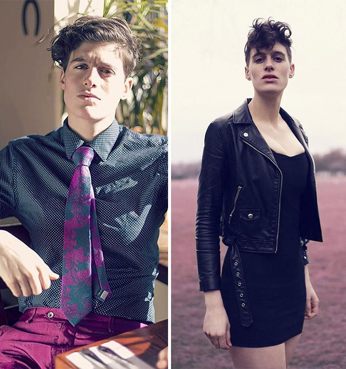 Man Or Woman Androgynous Model Poses As Both To Challenge