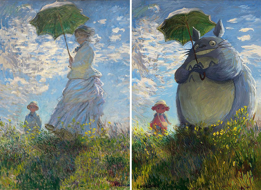 """Woman With A Parasol"" By Claude Monet"