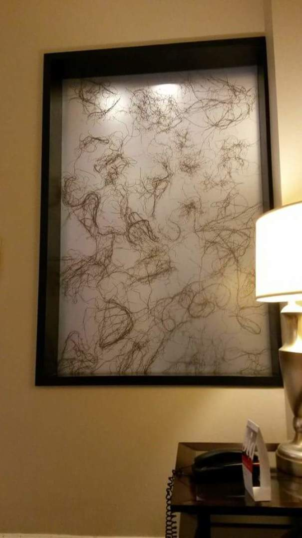 """""""Art"""" In A Hotel Lobby. Apparently, I've Been Making Masterpieces In The Shower For Years"""