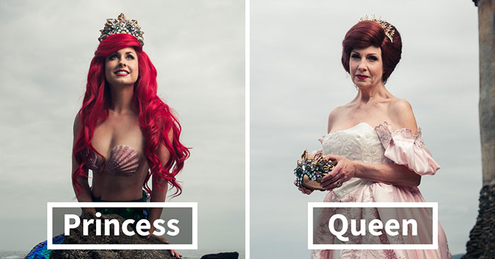 Disney Princesses Reimagined Years Later As Queens By Daughters And Mothers