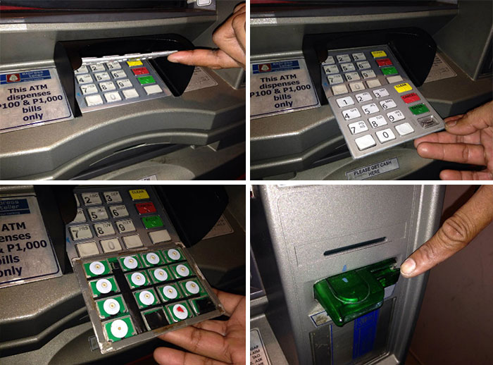 False Keypad Overlay And Card Skimmer