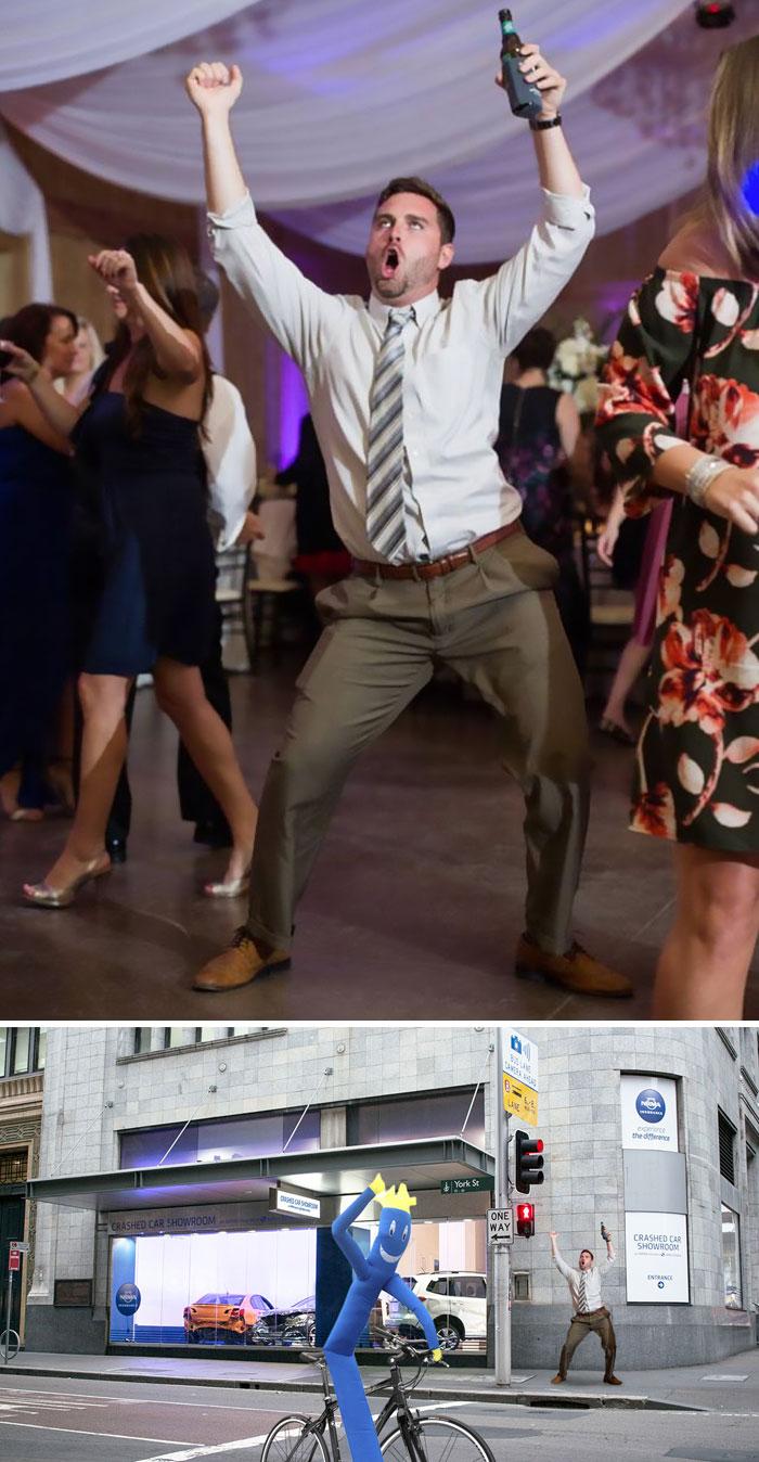 This Man Dancing At A Wedding