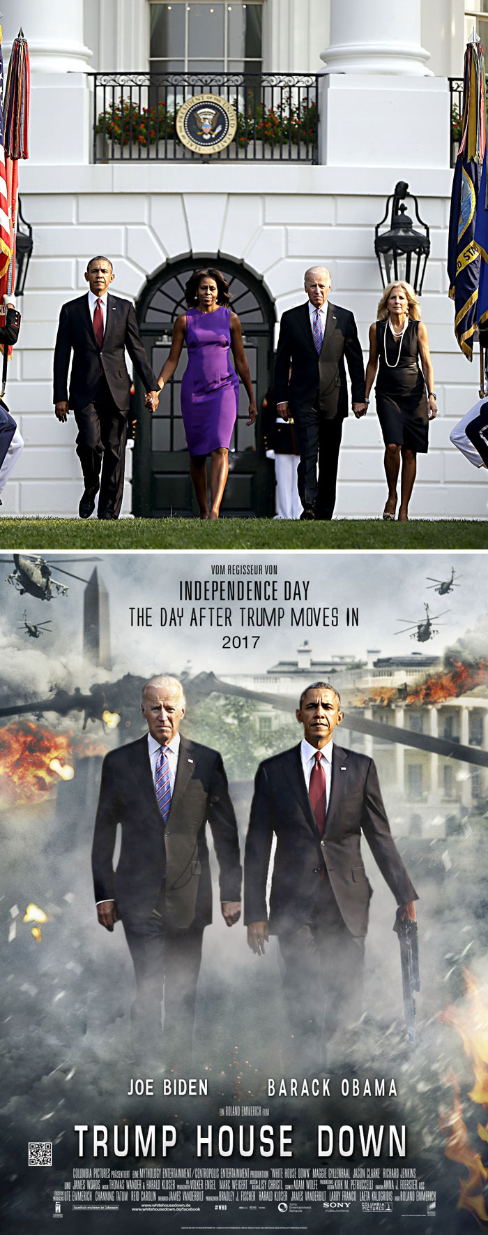 The Obama's And Biden's Walk Away From White House
