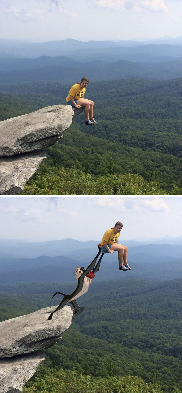 This Girl Sitting On The Edge Of A Cliff