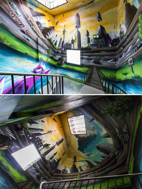 100 Seniman Graffiti Mengubah Sekolah Ini Jadi Epic!