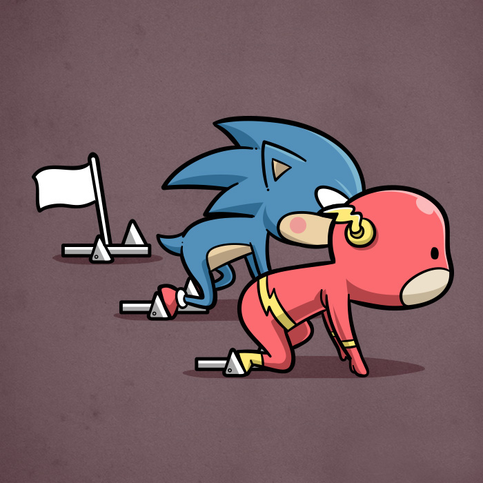 Sporty Flash & Sonic - Athletics