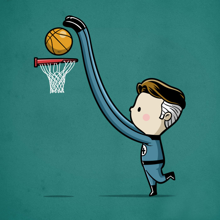 Sporty Mr. Fantastic - Basketball